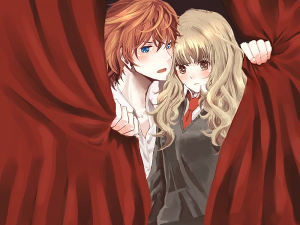 Tags: Anime, Pixiv Id 521291, Harry Potter, Ron Weasley, Hermione Granger, Gryffindor House
