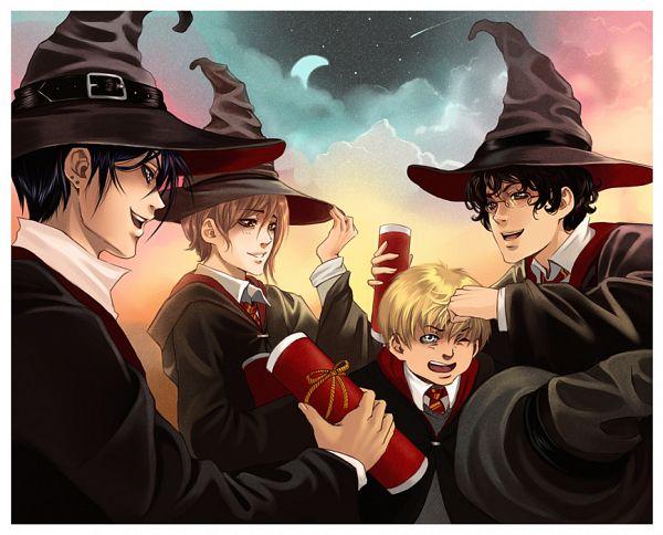 Tags: Anime, Hitokugutsu, Harry Potter, Remus Lupin, Sirius Black, Peter Pettigrew, James Potter, Gryffindor House, Marauders