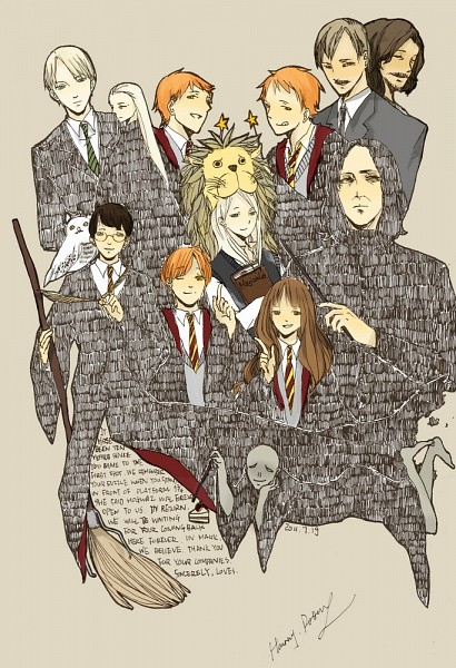 Tags: Anime, Pixiv Id 1618594, Harry Potter, Remus Lupin, Ron Weasley, Voldemort, Sirius Black, Draco Malfoy, Hedwig, Fred Weasley, Harry Potter (Character), George Weasley, Luna Lovegood