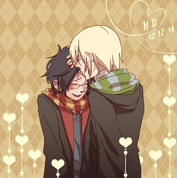 Tags: Anime, Harry Potter, Harry Potter (Character), Draco Malfoy, Artist Request