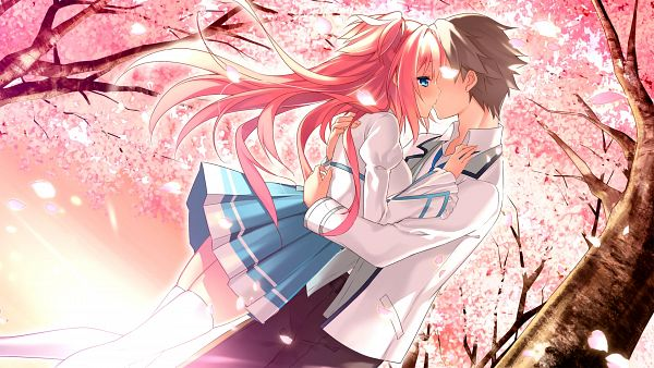 Tags: Anime, Riichu, Campus, Haru Uso -Passing Memories-, Sakurai Souichirou, Himeno Satsuki, Wallpaper, CG Art
