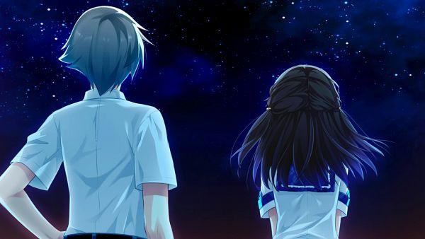Tags: Anime, Riichu, Campus, Haru Uso -Passing Memories-, Izumi Aoi, Sakurai Souichirou, CG Art, Wallpaper