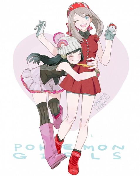 Tags: Anime, Nishihara Isao, Pokémon, Haruka (Pokémon), Hikari (Pokémon), Pixiv, Fanart From Pixiv, Fanart, HaruHika