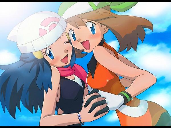Tags: Anime, Pixiv Id 3350938, Pokémon, Hikari (Pokémon), Haruka (Pokémon), Pixiv, Fanart From Pixiv, Fanart, HaruHika