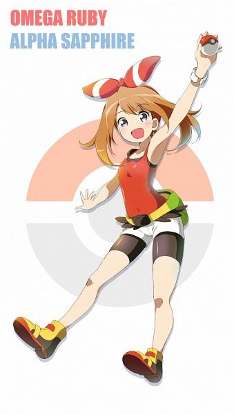 Tags: Anime, Pixiv Id 10879658, Pokémon, Haruka (Pokémon), Bike Shorts, Mobile Wallpaper, Pixiv, Fanart From Pixiv, PNG Conversion, Fanart, May (pokémon)