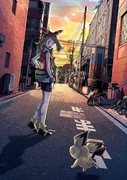 Tags: Anime, Eudetenis, Pokémon Ruby & Sapphire, Pokémon, Pichu, Haruka (Pokémon), May (pokémon)