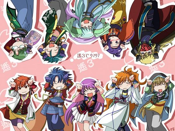 Tags: Anime, Pixiv Id 306134, Harukanaru Toki no Naka de 3, Hinoe, Taira no Atsumori, Hakuryuu (Harukanaru 3), Ridvan, Arikawa Yuzuru, Musashibou Benkei, Arikawa Masaomi, Kajiwara Kagetoki, Kasuga Nozomi, Bindi, In A Distant Time 3
