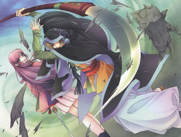 Tags: Anime, Mizuno Tohko, Koei, Harukanaru Toki no Naka de 3, Kasuga Nozomi, Musashibou Benkei, Official Art, In A Distant Time 3