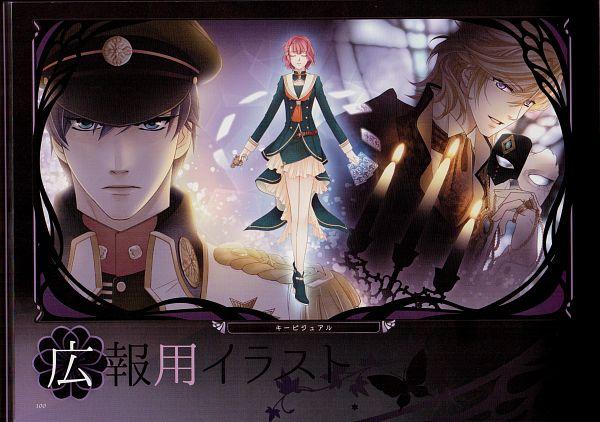 Tags: Anime, Mizuno Tohko, Koei, Harukanaru Toki no Naka de 6, Darius (Harukanaru Toki no Naka de 6), Arima Hajime, Takatsuka Azusa, Holding Mask, Scan, Official Art