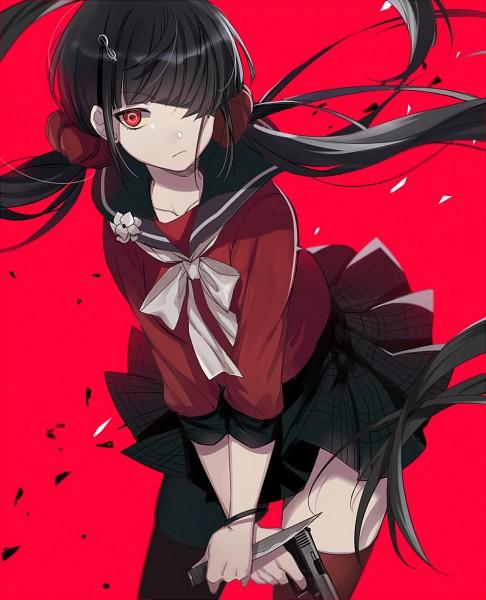 Tags: Anime, Ekita_Kuro, New Danganronpa V3, Harukawa Maki, Fanart From Pixiv, Pixiv, Fanart