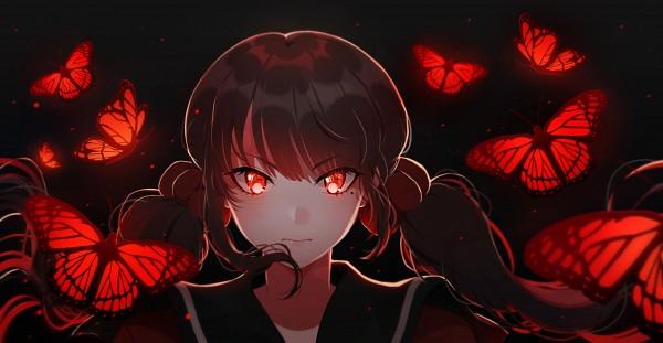 Tags: Anime, Mashunya-chan, New Danganronpa V3, Harukawa Maki, Fanart From DeviantART, Facebook Cover, deviantART, Wallpaper, Fanart