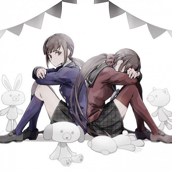 Tags: Anime, Pixiv Id 22929515, New Danganronpa V3, Harukawa Maki, Stuffed Dog, Fanart From Pixiv, Pixiv, Fanart