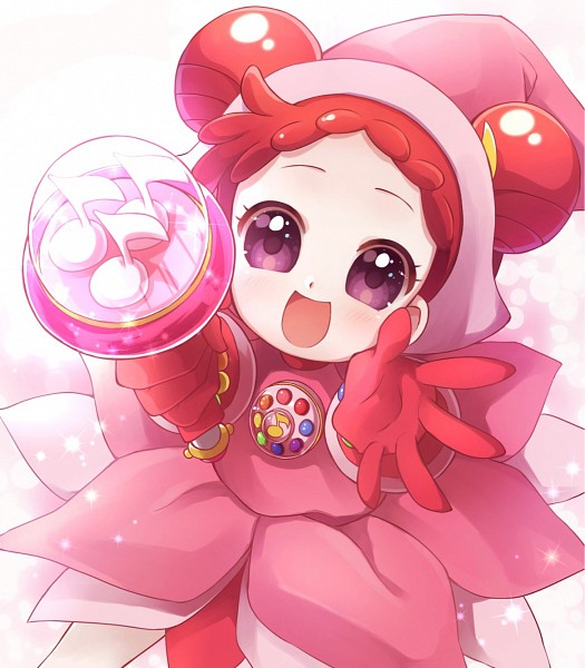 Tags: Anime, Pixiv Id 14568789, Ojamajo DoReMi, Harukaze Doremi, Pink Handwear, Dream Spinner, Kururu Poron, Pink Gloves, Pixiv, Fanart, Fanart From Pixiv, Doremi Harukaze