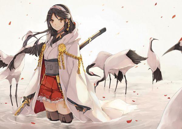 Tags: Anime, Hao (Patinnko), Kantai Collection, Haruna (Kantai Collection), Touken Ranbu (Parody), Naginata, Tsurumaru Kuninaga (Cosplay)