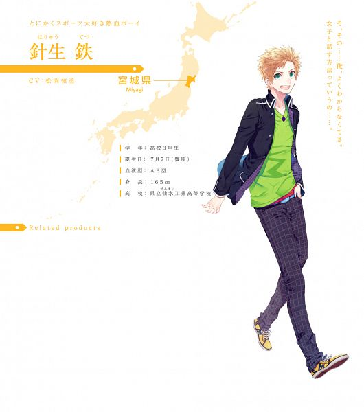Tags: Anime, Mizuguchi Too, honeybee, Photograph Journey, Haryuu Tetsu, Map, Map Background, Official Art, Official Character Information, Character Sheet, PNG Conversion