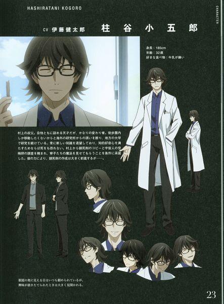 Tags: Anime, Karasu Hiroaki, ARMS (Studio), Gokukoku no Brynhildr, Hashiratani Kogorou, Official Art, Character Sheet, Scan