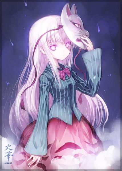 Tags: Anime, Hibana (Artist), Touhou, Hata no Kokoro, Holding Mask, Blank Stare, Mobile Wallpaper
