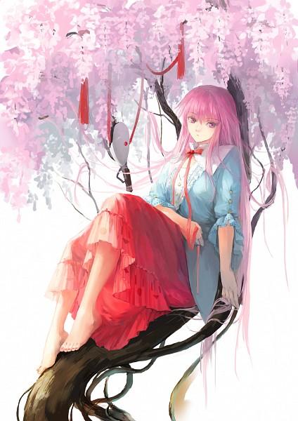 Tags: Anime, Fancybetty, Touhou, Hata no Kokoro, Observing, Mobile Wallpaper, Fanart