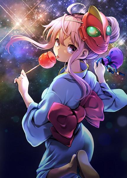 Tags: Anime, Uousa, Touhou, Hata no Kokoro, Candy Apple, Mobile Wallpaper, Fanart