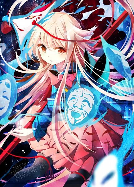Tags: Anime, Miruyuana, Touhou, Hata no Kokoro, PNG Conversion, Mobile Wallpaper, Pixiv, Fanart, Fanart From Pixiv