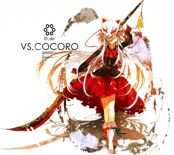 Tags: Anime, Pixiv Id 2450916, Touhou, Hata no Kokoro, Naginata, Pixiv, Fanart From Pixiv, Fanart, PNG Conversion