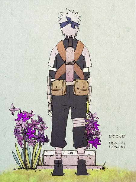 Tags: Anime, Pixiv Id 1748198, NARUTO, Hatake Kakashi, Grave, Mobile Wallpaper, Fanart From Pixiv, Translated, Fanart, Pixiv