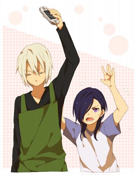 Tags: Anime, Sekina, Hataraku Maou-sama!, Urushihara Hanzo, Ashiya Shirou, PSP, Pixiv