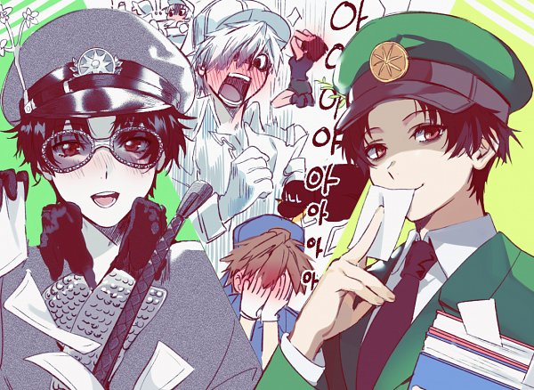 Tags: Anime, mery (dpqpqp550), Hataraku Saibou, U-1146, B Cell, Neutrophil, Dendritic Cell, U-4989, NK Cell, Covering Face, Cells At Work!