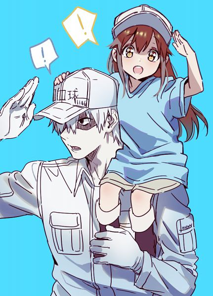 Tags: Anime, mery (dpqpqp550), Hataraku Saibou, U-1146, Platelet, Neutrophil, Fanart From Pixiv, Pixiv, Fanart, Cells At Work!