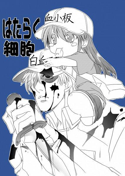 Tags: Anime, Pixiv Id 9619038, Hataraku Saibou, U-1146, Platelet, Neutrophil, Cells At Work!