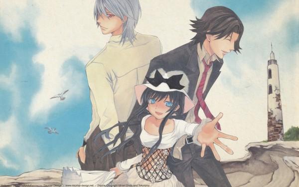 Tags: Anime, Hatenkou Yuugi, Rahzel Anadis, Baroqueheat, Alzeid, Lighthouse, Wallpaper