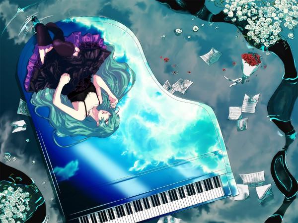 Tags: Anime, Ranmaru (Iro), VOCALOID, Hatsune Miku, Sheet Music, Pixiv