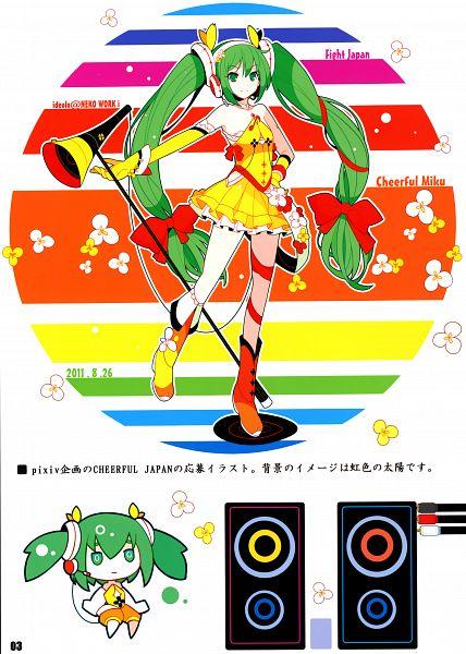 Tags: Anime, Ideolo, NEKO WORKi, IRO GAME, VOCALOID, Hatsune Miku, Comic Market 81, Mobile Wallpaper, Scan, Cheerful JAPAN