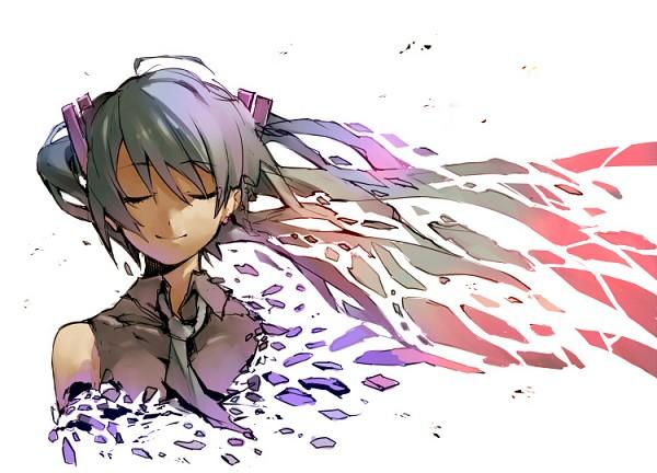 Tags: Anime, GAN (Shanimuni), VOCALOID, Hatsune Miku, Disappearing, The Disappearance of Hatsune Miku