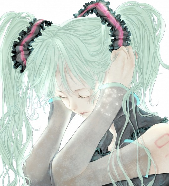 Tags: Anime, Juan Sachi, VOCALOID, Hatsune Miku, Pulling, Pulling Hair, Fanart, Pixiv, Fanart From Pixiv
