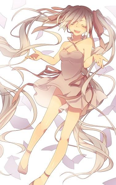Tags: Anime, Itsia, Sakuragi Ren, VOCALOID, Hatsune Miku, Colorization