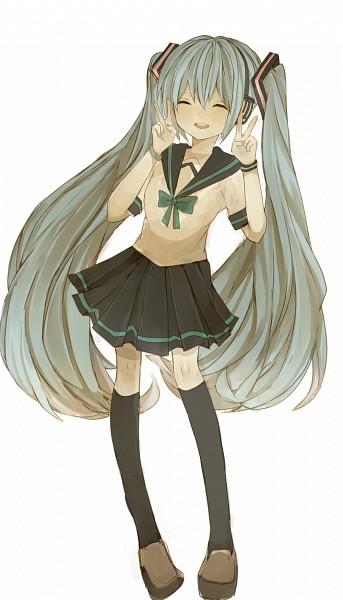 Tags: Anime, Pixiv Id 5561169, VOCALOID, Hatsune Miku, Mobile Wallpaper