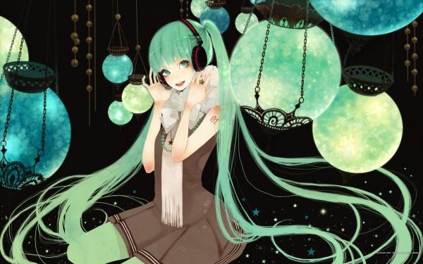 Tags: Anime, Mokaffe, VOCALOID, Hatsune Miku, Mikumix, Pixiv, Wallpaper