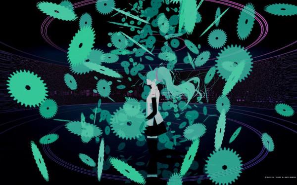 Tags: Anime, Emukami, VOCALOID, Hatsune Miku, Mikumix, Fanart, Pixiv, Wallpaper, PNG Conversion