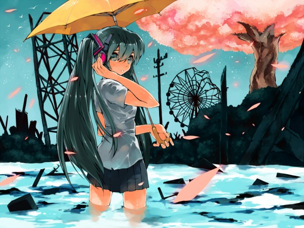 Tags: Anime, GAN (Shanimuni), VOCALOID, Hatsune Miku, Wallpaper