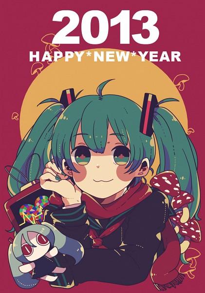 Tags: Anime, Pixiv Id 3013675, VOCALOID, Aimaina, Hatsune Miku, Aqua Nails, Mobile Wallpaper, Pixiv, Happy 2013