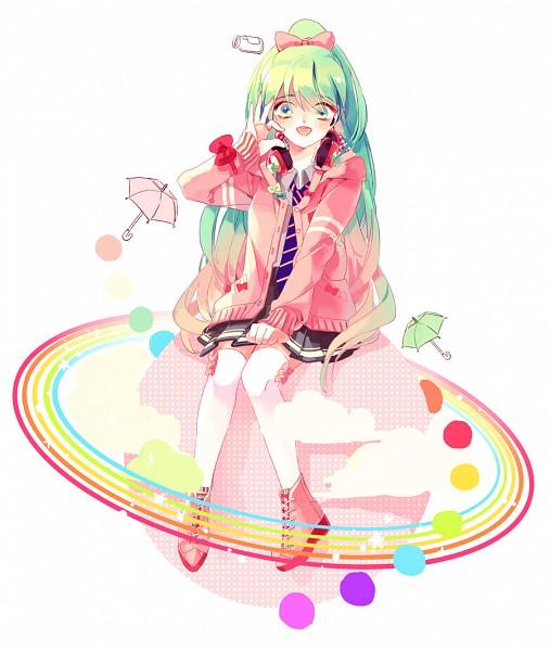 Tags: Anime, Platina77, Project DIVA F, VOCALOID, Hatsune Miku, Project DIVA Ribbon Girl
