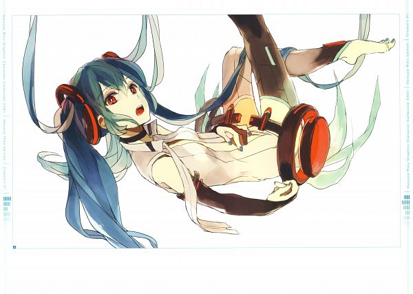 Tags: Anime, Loo, Hatsune Miku Graphics Character Collection Cv01 Hatsune Miku, VOCALOID, Hatsune Miku, Self Scanned, Scan, Append