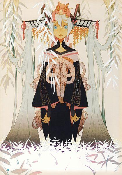 Tags: Anime, Karakuri Shion, Hatsune Miku Graphics Character Collection Cv01 Hatsune Miku, VOCALOID, Hatsune Miku, Self Scanned, Scan, Mobile Wallpaper