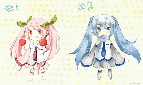 Tags: Anime, VOCALOID, Hatsune Miku, Yuki Design, Sakura Design, Hanabie (VOCALOID), Artist Request