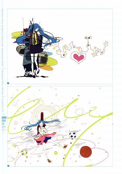 Tags: Anime, Hashimochi, Hatsune Miku Graphics Character Collection Cv01 Hatsune Miku, VOCALOID, Hatsune Miku, Mobile Wallpaper, Self Scanned, Scan, Hello Strobe, Strobe Last