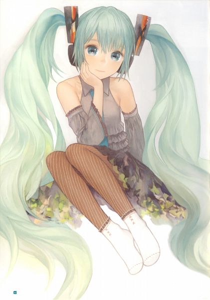 Tags: Anime, Matayoshi, Hatsune Miku Graphics Character Collection Cv01 Hatsune Miku, VOCALOID, Hatsune Miku, Self Scanned, Scan, Mobile Wallpaper