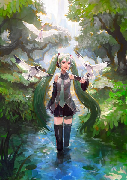 Tags: Anime, Alchemaniac, VOCALOID, Hatsune Miku, Fanart, Fanart From DeviantART, deviantART, Mobile Wallpaper