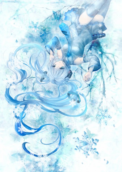 Tags: Anime, Onineko, VOCALOID, Hatsune Miku, Mobile Wallpaper, Yuki Design, Pixiv