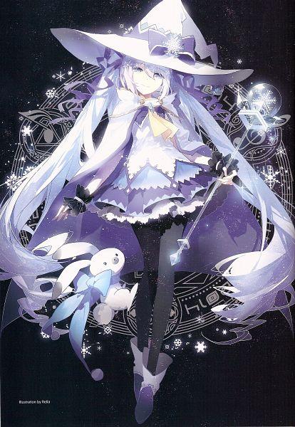Tags: Anime, Rella, VOCALOID, Hatsune Miku, Rabbit Yukine, Scan Artifacts, Scan, Mobile Wallpaper, Yuki Design, Fanart, Yuki Design 2014